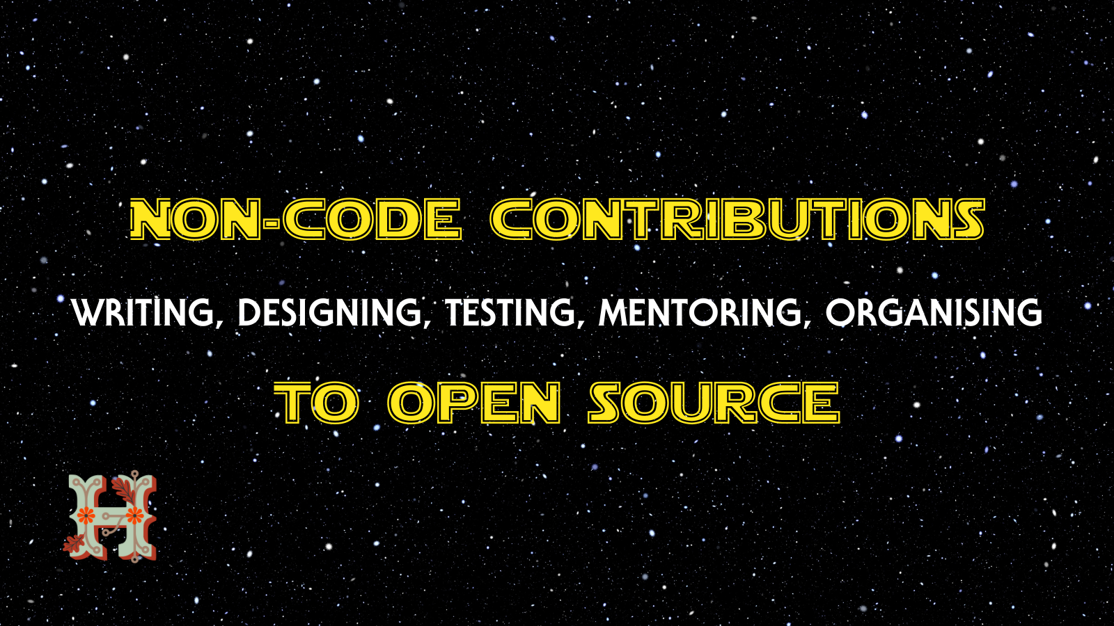 Banner showing non-code contributions to open-source.
